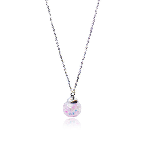 Cherry Blossoms Snowball Necklace (흩날리는 벚꽃 스노우볼 목걸이)